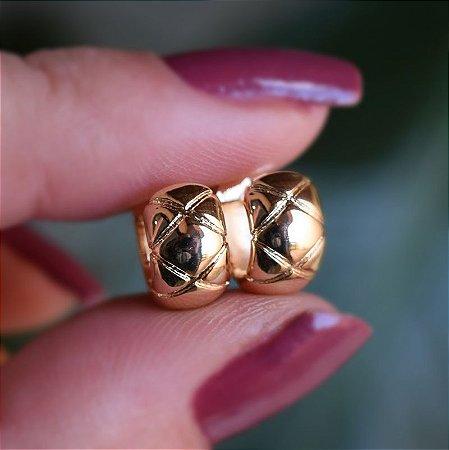Brinco argolinha ouro semijoia 19K11050
