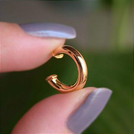 Piercing de encaixe individual tubo ouro semijoia