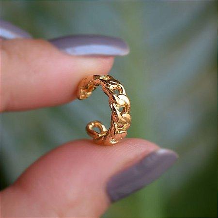 Piercing de encaixe individual corrente ouro semijoia