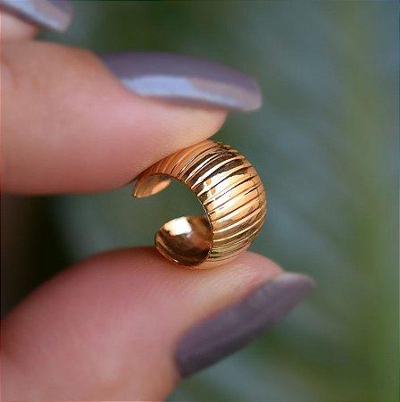 Piercing de encaixe individual ouro semijoia