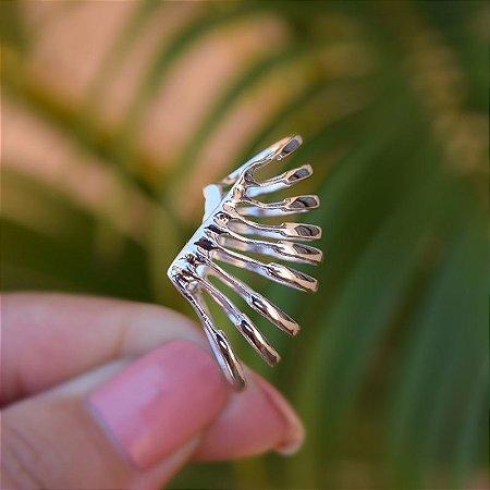 Piercing de encaixe individual aros ródio semijoia