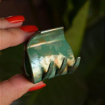 Piranha de cabelo francesa Finestra tie dye verde N737MV