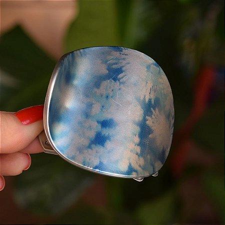 Piranha redonda ondulada francesa Finestra tie dye azul F2826MAZ