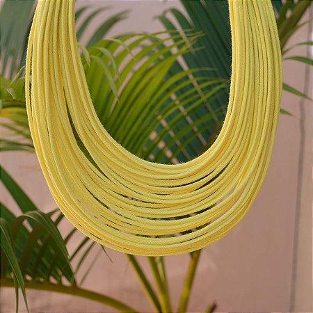 Colar Design Natural fios de algodão amarelo CO 1341