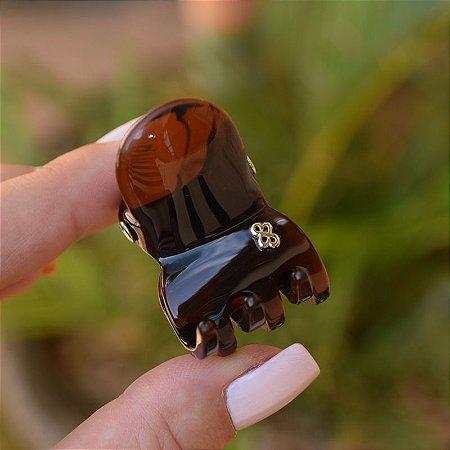 Piranha de cabelo Bianca acrílico marrom tartaruga 05 172