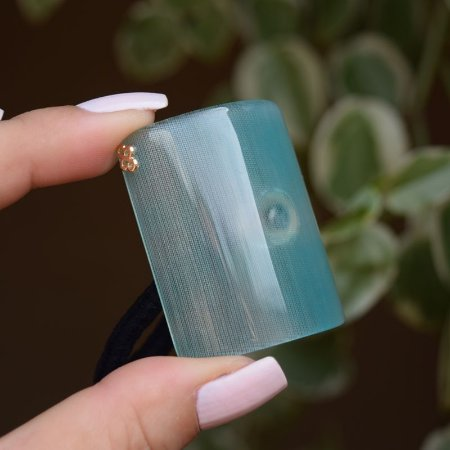 Rabicó Bianca acrílico retangular tie dye verde 10 198