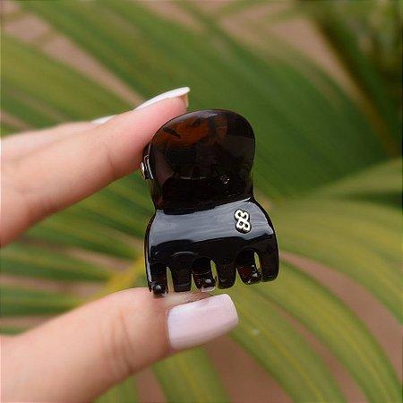 Piranha de cabelo Bianca acrílico marrom tartaruga 05 171