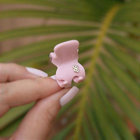 Piranha de cabelo Bianca acrilíco rosa 05 033