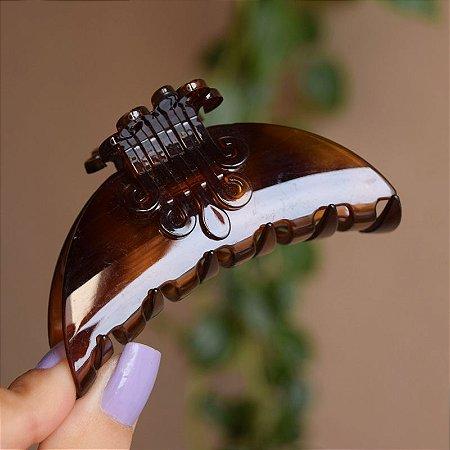 Piranha de cabelo francesa Finestra marrom tartaruga