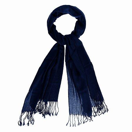 Pashimina viscose azul marinho Pas 001