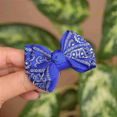 Presilha bico de pato infantil laço azul