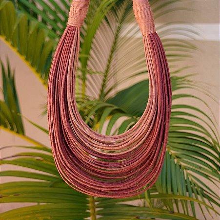 Colar Design Natural fios de algodão bicolor CO 1314N