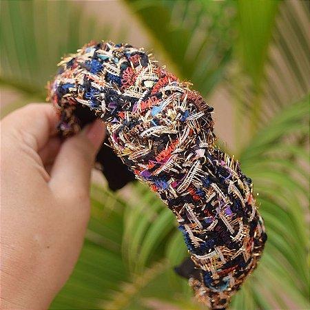Tiara turbante tecido colorido
