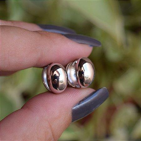 Brinco argolinha ródio semijoia 19a11015