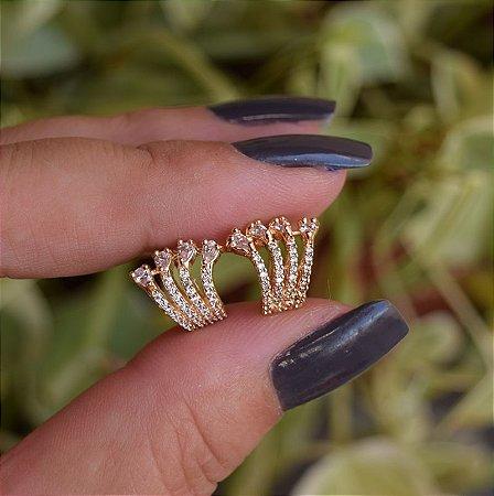 Piercing de encaixe par garras zircônia ouro semijoia 19k09001