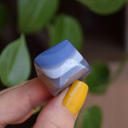 Anel pedra natural ágata cinza semijoia