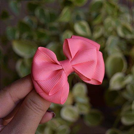 Presilha bico de pato infantil laço rosa