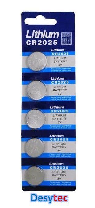 Baterias Lithium CR2025 (3V) cartela c/ 5