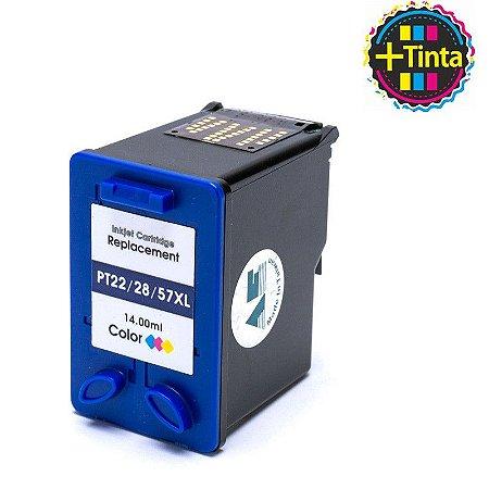 Cartucho de Tinta Compatível com HP 22 28 57 D1360 PSC 1410 F380 Preto 14ML
