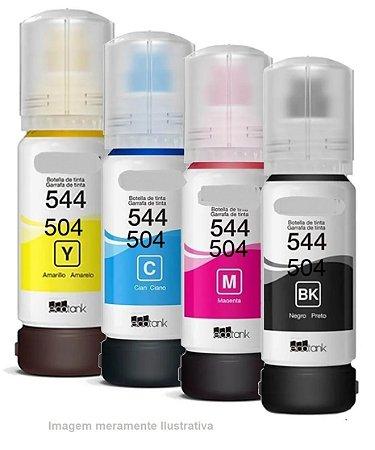 Kit Refil 4 Cores para Impressoras Epson - Compatível com T504