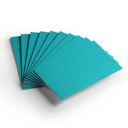 Cartão Color Face - Azul Ciano - Pacote 10 folhas -