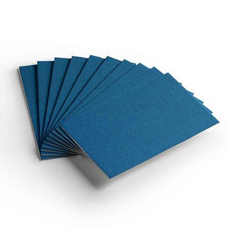 Pacote 10 folhas - Cartão Color Face - Azul  Royal