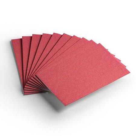 Cartão Color Face - Vermelho - Pacote 10 folhas