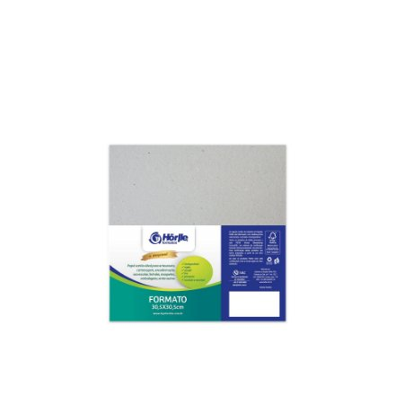 Cartão Cinza - Medida 30,5x30,5cm - Pacote 10 unidades