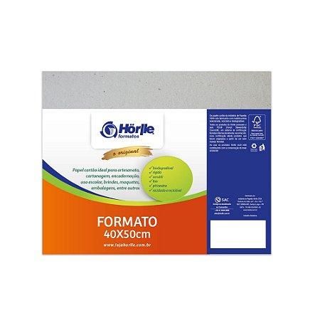 Cartão Cinza - Medida 40x50cm - Pacote 10 unidades