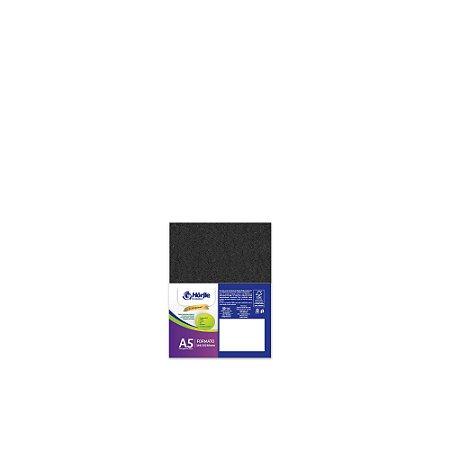 Cartão Preto H - Medida A5 - Pacote 10 unidades