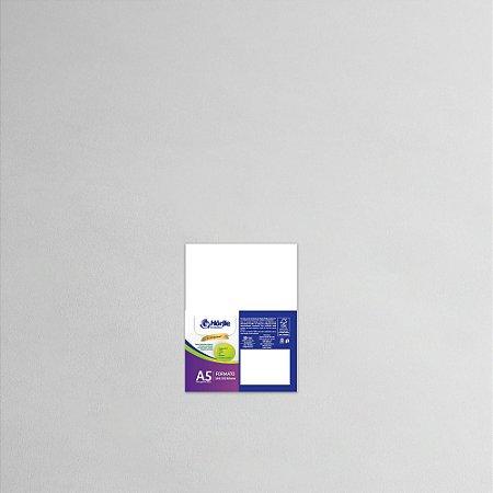 Cartão Capa Branca - Medida A5 - Pacote 10 unidades