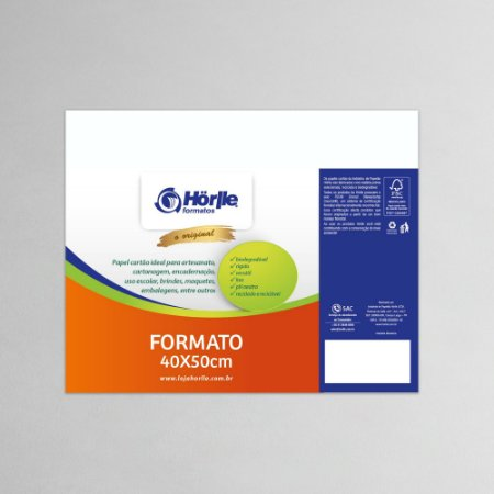 Cartão Capa Branca - Medida 40x50cm - Pacote 10 unidades
