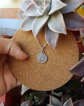 Pingente medalhinha Estrela de Davi