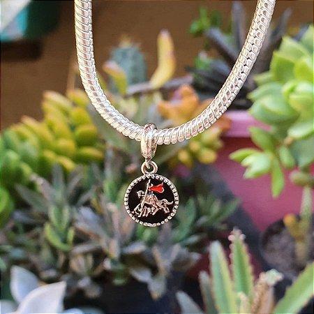 Berloque medalhinha pendente São Jorge
