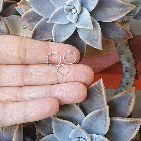 Kit 3 piercings argola para nariz