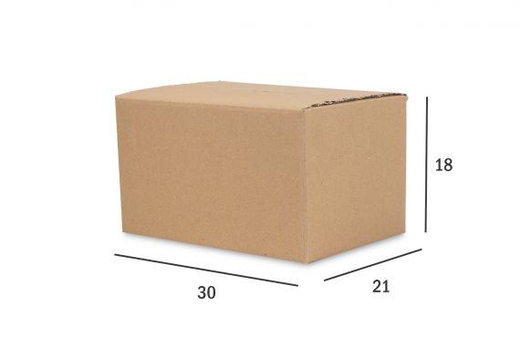 Caixa de Papelão para envio Correio  Kraft  30X21X18