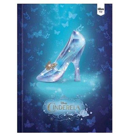 Caderno 1/4 96fls Brochura Capa Dura Top Cinderella Tilibra