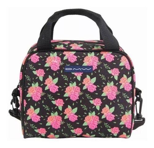 Bolsa Térmica Floral Preta c/ Rosa R.11056 Dmw