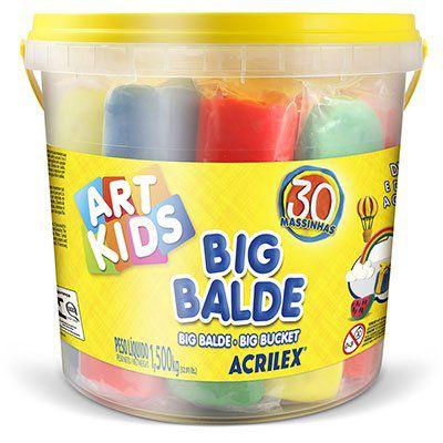 Massinha ArtKids Big Balde 30 massinhas sortidas R.40023