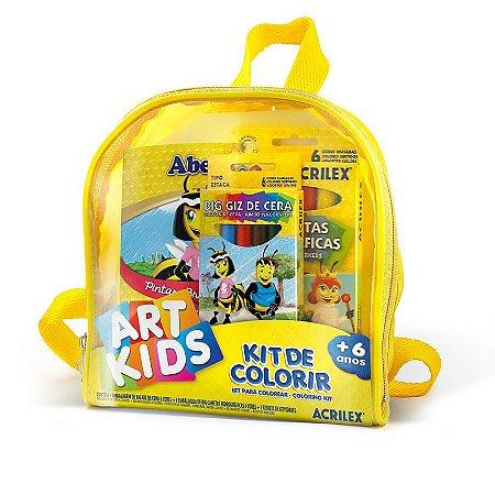 Kit Colorir Art Kids Com Bolsinha - Acrilex