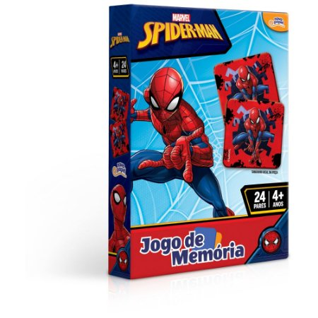 Jogo da Memória Homem Aranha 24 peças Toyster