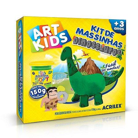 Kit de Massinha Dinoussauros Verdes Acrilex