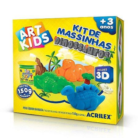 Kit de Massinha Dinoussauros 3d 40047 Acrilex