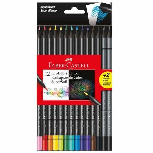 Lápis De Cor 12 Cores Supersoft 120712soft+2 Faber-Castell