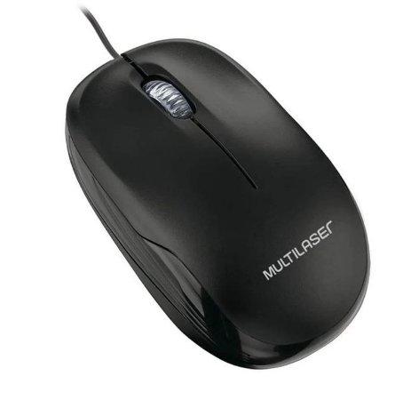 Mouse Multilaser Óptico USB Preto MO255