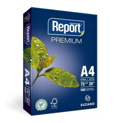 Papel Sulfite A4 Branco Premium Com 500 Folhas Report