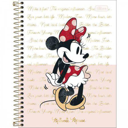 Caderno Colegial Minnie 10 Matérias 160 folhas Tilibra