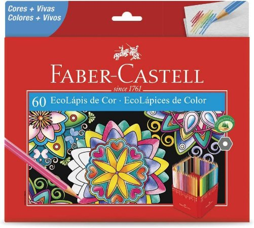 Lápis De Cor 60 Cores Ecolápis 120160G Faber Castell