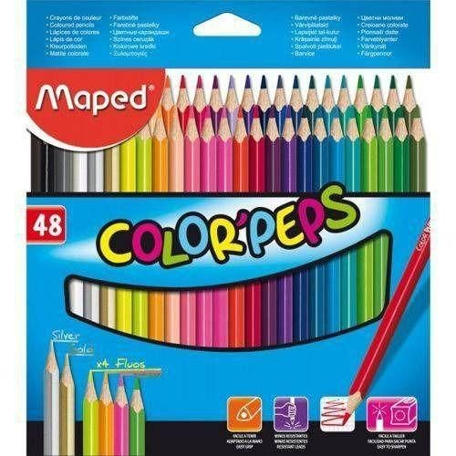 Lápis de Cor 48 Cores Color Peps Maped