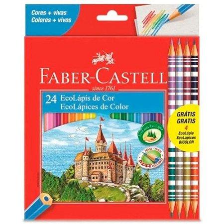 Lapis Cor 20 Cores Eco Lápis + 4 Lápis Bicolor  Faber-Castell